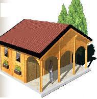 garage triple 78 m avec terrasse couverte. Black Bedroom Furniture Sets. Home Design Ideas
