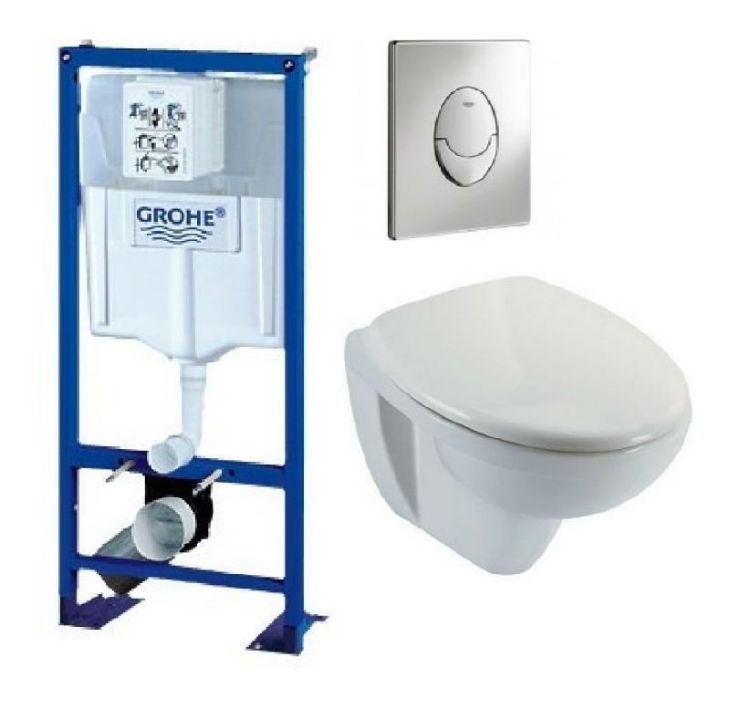 bati support wc suspendu grohe autoportant plaque grise. Black Bedroom Furniture Sets. Home Design Ideas