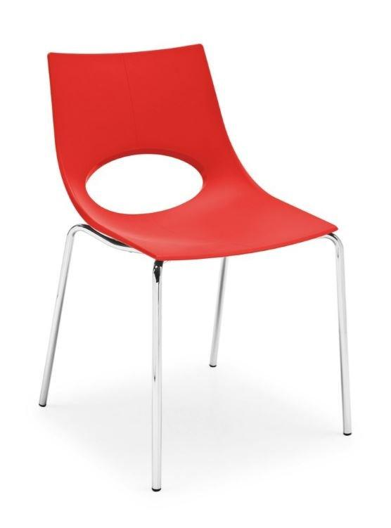 Calligaris chaise congress  rouge