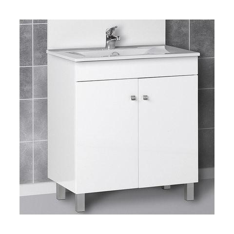 Ecoline meuble seul largeur cm 80 comparer les prix for Meuble 45 cm largeur