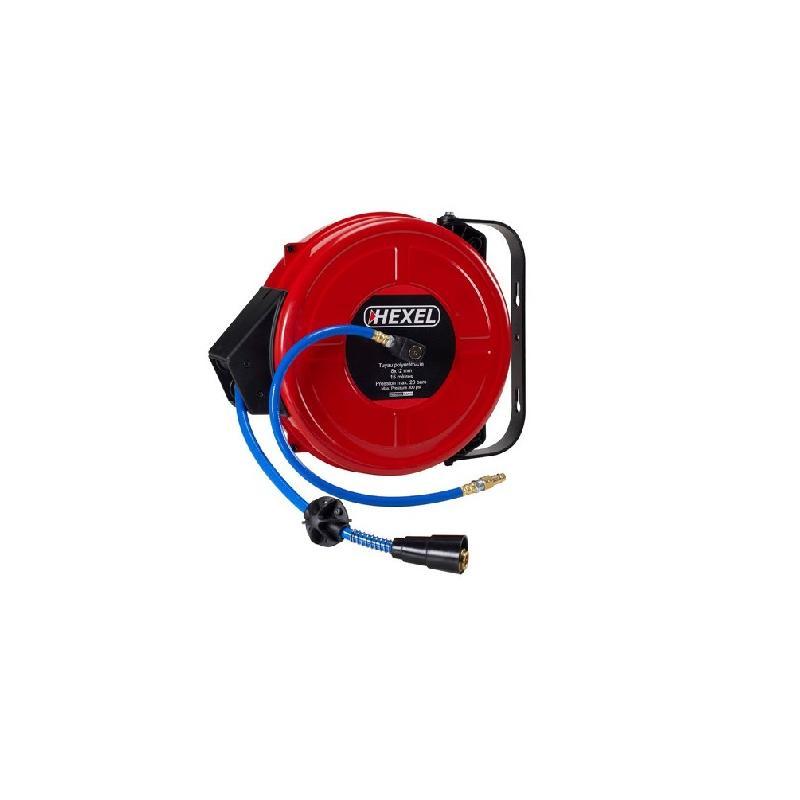 Enrouleur automatique de tuyau pneumatique 15 mètres - dax15 - hexel