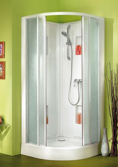 Cabine de douche 1 4 rond 90 portes coulissantes verre - Cabine de douche porte coulissante ...