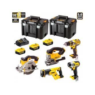 DeWALT Kit 4 outils 18V XR DCK483P3T 3 batteries x 5,0Ah Li-Ion