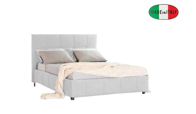 lit coffre design romeo blanc couchage 160 200cm. Black Bedroom Furniture Sets. Home Design Ideas