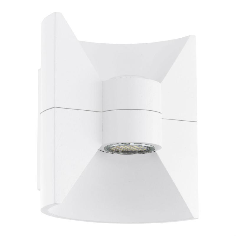 redondo applique d 39 ext rieur led 2 lumi res blanc h18cm luminaire d 39 ext rieur eglo design. Black Bedroom Furniture Sets. Home Design Ideas