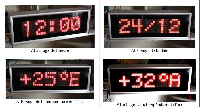 Afficheurs lumineux heure date et temperature series mhdt for Affichage lumineux exterieur