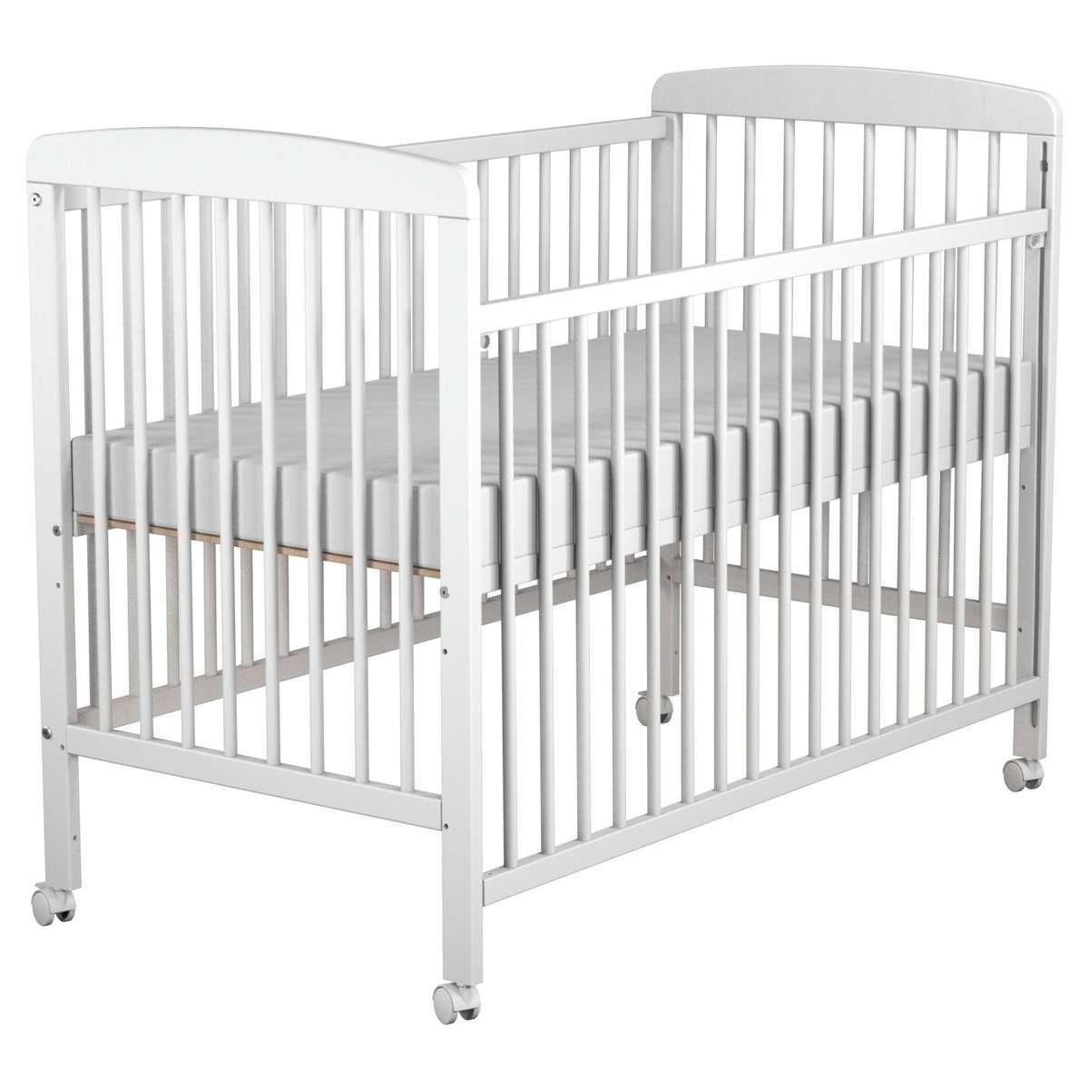 berceau lit bebe 60 x 120 mathieu blanc. Black Bedroom Furniture Sets. Home Design Ideas