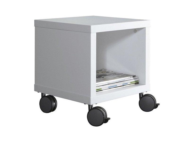 bout de canape design coloris blanc laque. Black Bedroom Furniture Sets. Home Design Ideas