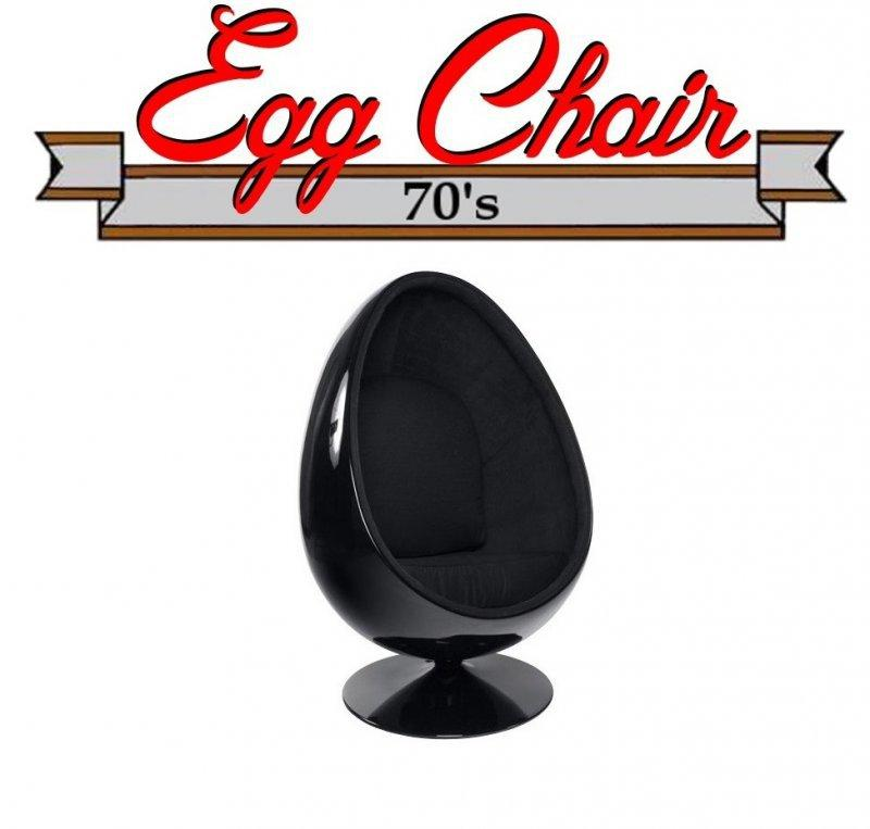 fauteuil pivotant oeuf egg chair coque noir interieur. Black Bedroom Furniture Sets. Home Design Ideas