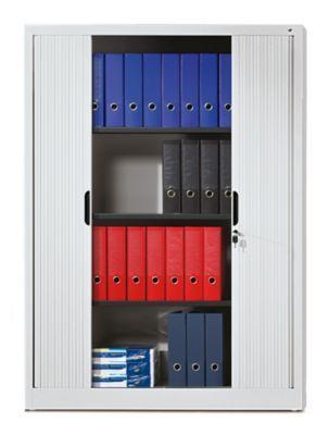 c p armoire rideaux lames verticales h x l x p 1660 x 1200 x 420 mm 3 tablettes 4. Black Bedroom Furniture Sets. Home Design Ideas