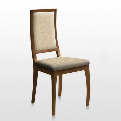 chaise sheila tapissee teinte boiserie naturel tapisserie ecru lot de 2. Black Bedroom Furniture Sets. Home Design Ideas