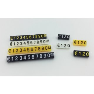 CHIFFRES PRIX POUR VITRINES - MODULABLES - 120 CUBES - 5 MM
