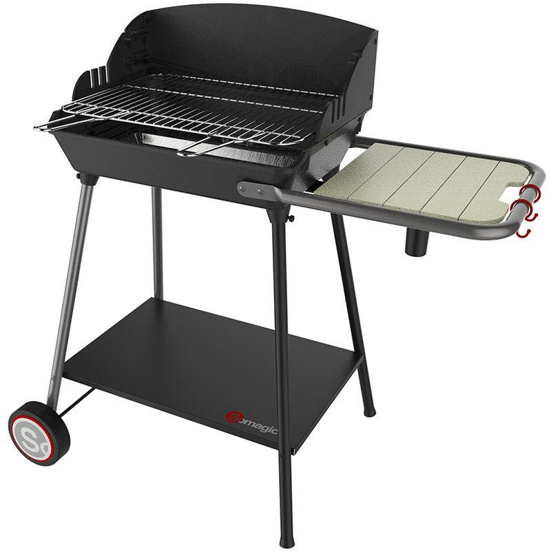 Exel Duo Grill Barbecue Charbon Fonte Vertical | SOMAGIC