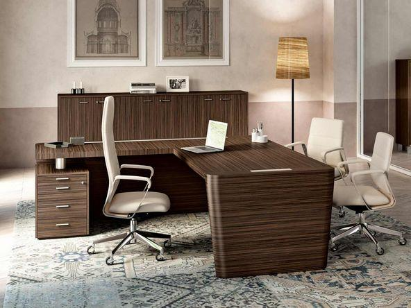 bureau de direction avec retour et caisson placage comparer les prix de bureau de direction avec. Black Bedroom Furniture Sets. Home Design Ideas