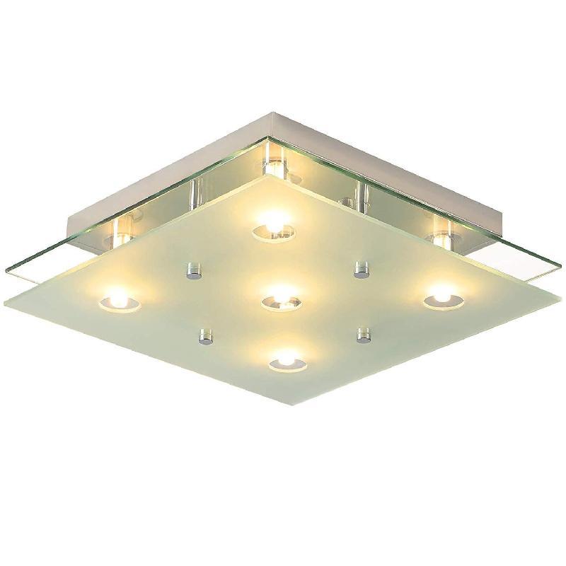 Lustre plafonnier lampe moderne en verre carré décoration 2401030/2