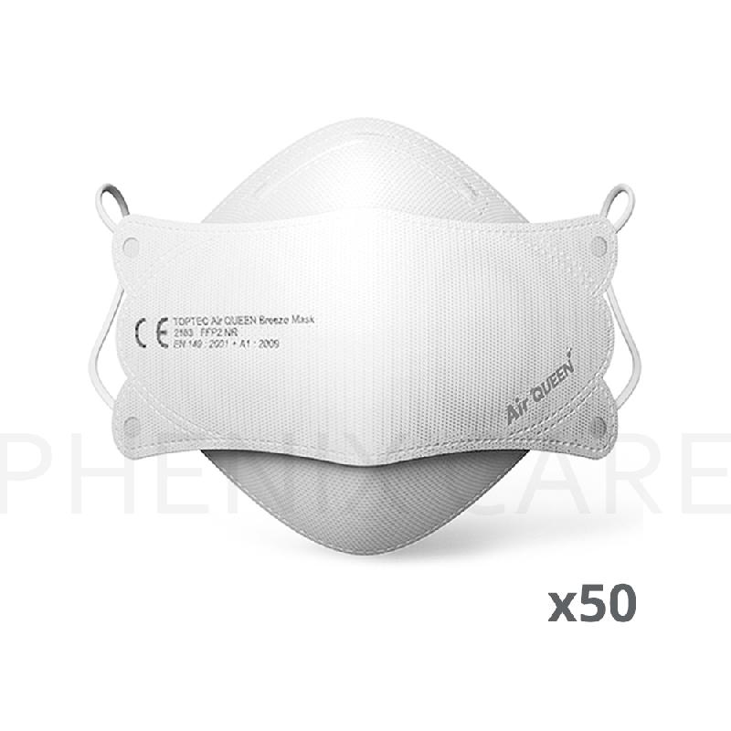 50 masques ce ffp2 air queen breeze nanotechnologie nouvelle génération