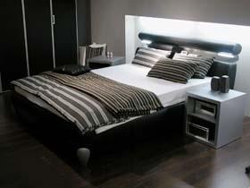 Dos lit produits lits eau - Chambre a coucher gris et noir ...
