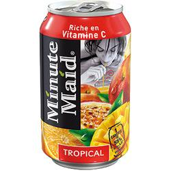 CANETTES DE JUS TROPICAL MINUTE MAID 330 ML - 24 CANNETTES