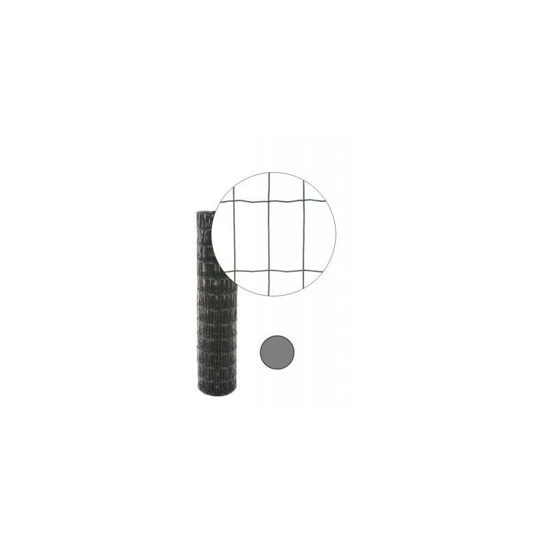 GRILLAGE SOUDÉ GRIS ANTHRACITE - MAILLE 100 X 50MM - 0,6 MÈTRE - CLOTURE & JARDIN