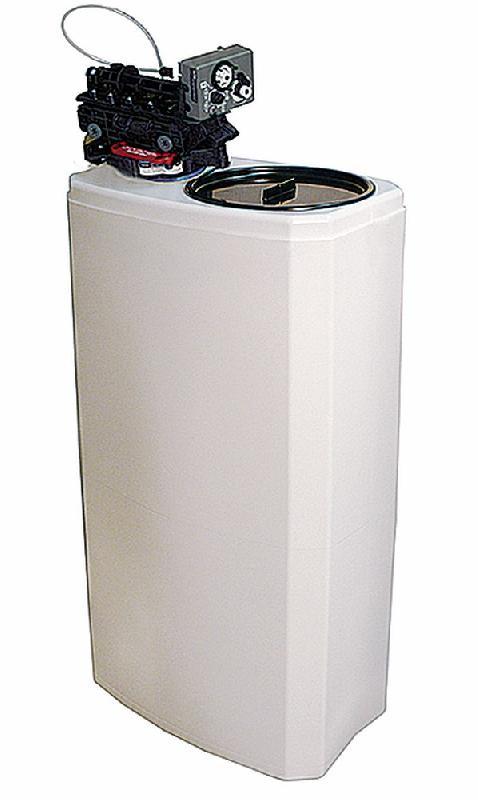 Adoucisseur d\'eau automatique, capacité 27 litres, 1000 litres/h, réserve de sel 50 kg - ad27aubvus