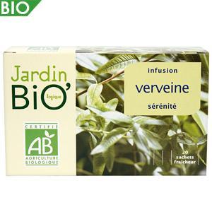 JARDIN BIO INFUSION SÉRÉNITÉ VERVEINE 20 SACHETS 28 G