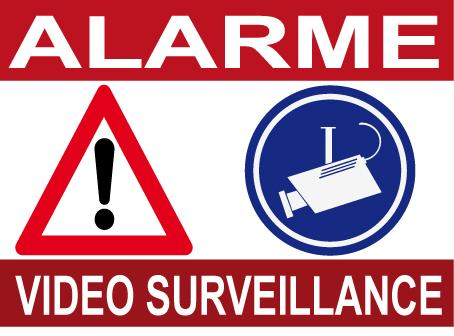 panneau de dissuasion alarme video surveillance. Black Bedroom Furniture Sets. Home Design Ideas
