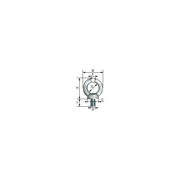 ANNEAU DE LEVAGE MÂLE DIN 580 M12 LEVAC