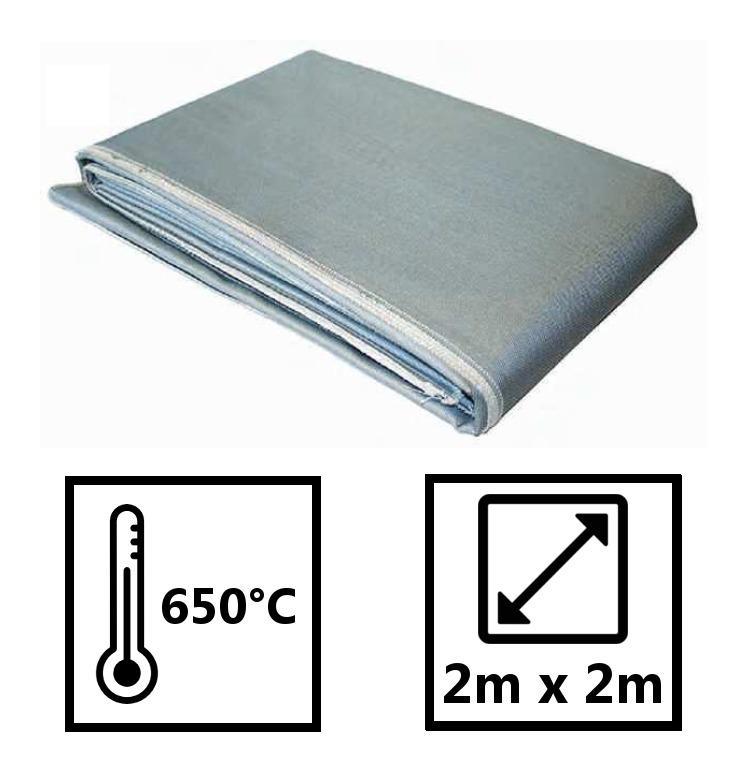 Couverture Anti Feu Protection 650 2m X 2m Fibre De