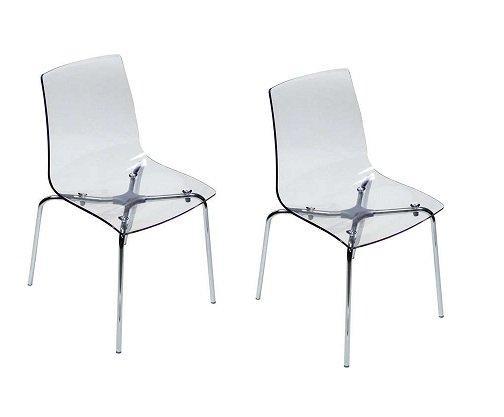 lot de 2 chaises lollipop empilable design transparente comparer les prix de lot de 2 chaises. Black Bedroom Furniture Sets. Home Design Ideas