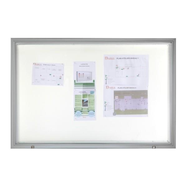 vitrine d 39 exterieur eclairee verre trempe. Black Bedroom Furniture Sets. Home Design Ideas