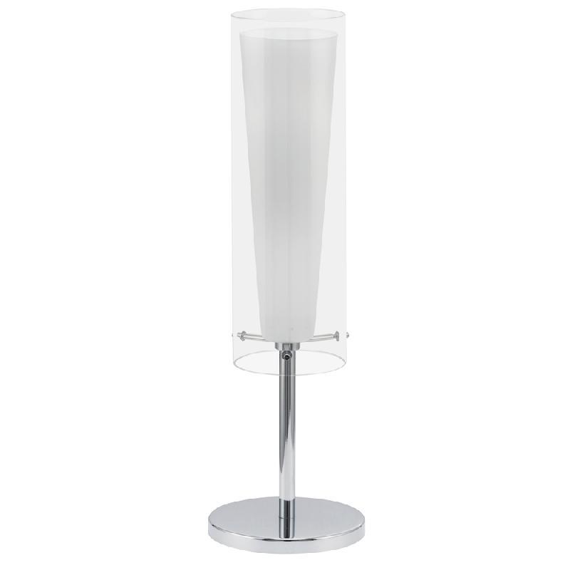 pinto lampe de table blanc h50cm lampe poser eglo design par comparer les prix de pinto. Black Bedroom Furniture Sets. Home Design Ideas