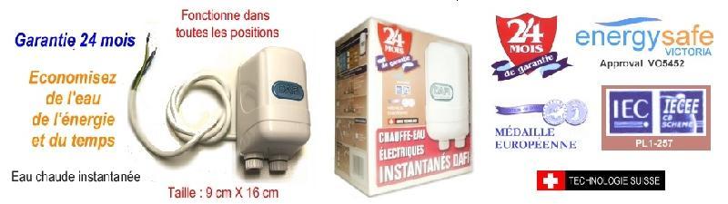 Chauffe eau electriques tous les fournisseurs chauffe - Chauffe eau instantane electrique douche ...