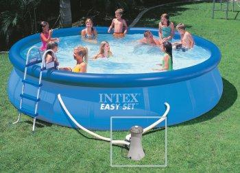Piscine intex ref 56414 for Piscine gonflable intex ronde