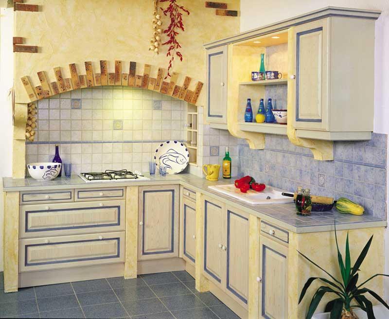 Cuisine traditionnelle polka rechampis bleu for Cuisine traditionnelle