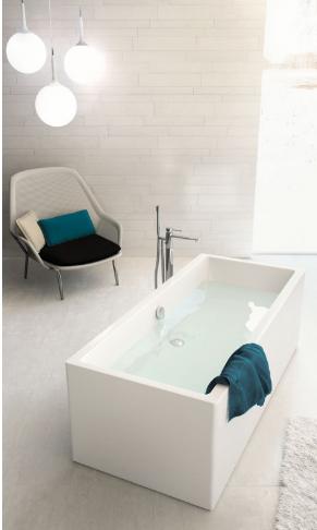 Baignoire nilla for Baignoire lavabo integre