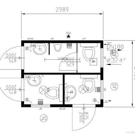 conteneur wc 3 m tres hommes femmes panneau sandwich plan 2 comparer les prix de conteneur. Black Bedroom Furniture Sets. Home Design Ideas