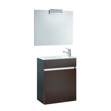 meuble de salle de bain suspendu 58x32cm weng compact comparer les prix de meuble de salle de. Black Bedroom Furniture Sets. Home Design Ideas