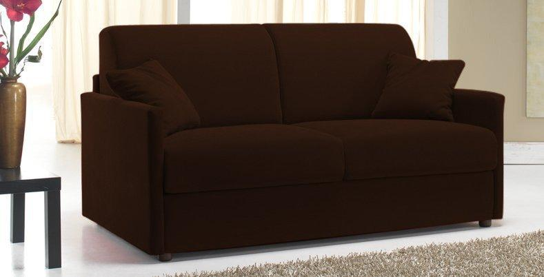 canape lit 4 places sun convertible ouverture rapido 160cm microfibre marron. Black Bedroom Furniture Sets. Home Design Ideas