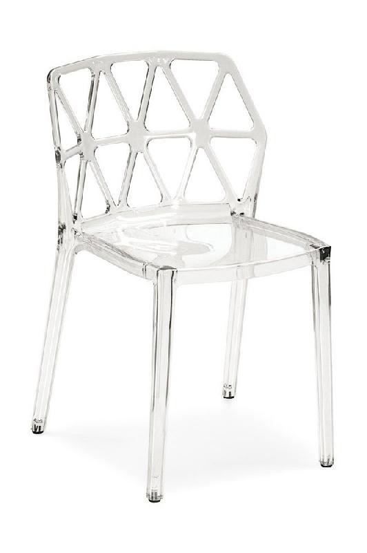 Calligaris chaise design empilable alchemia  transparente