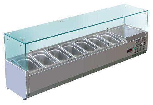 Kit réfrigéré vitré/à capot à poser pour bacs vitrine vitrée 1m40 pour bacs 1/3 (vrx1400-380)