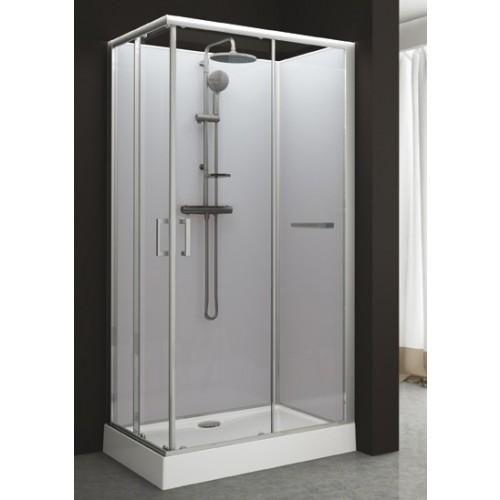 cabine de douche rectangulaire 80 x 120 cm portes coulissantes kara leda comparer les prix. Black Bedroom Furniture Sets. Home Design Ideas