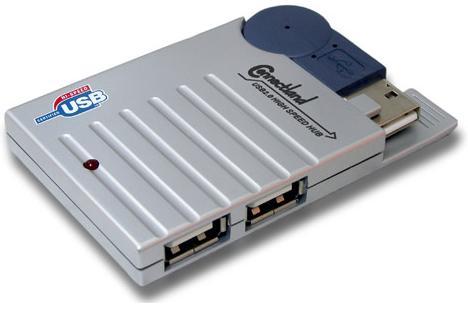 Concentrateur hub usb 2.0 4 ports avec cable usb integre