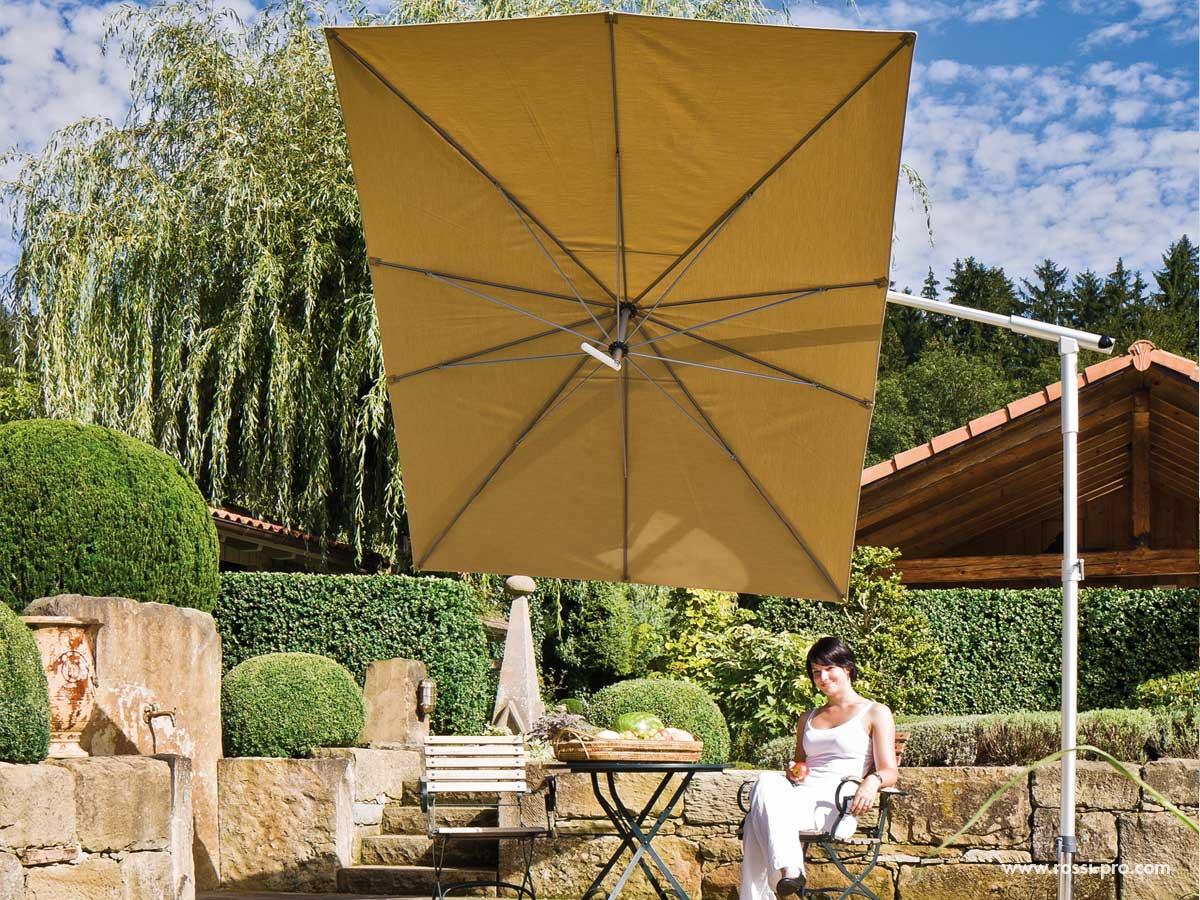 Parasol pied deporte dacapo toit rectangulaire