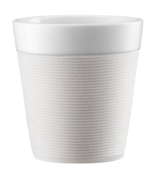 Plastique À Blanc L'unité Crème A Paroi Piston En Double Mug 35cl 8n0mNw