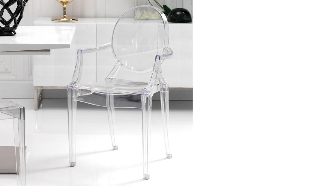 Chaise Transparente Design En Polycarbonate Mismir Lot De 4