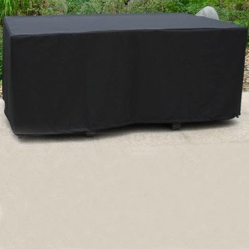 Housse de protection pour table 170x105 cm noire comparer for Housse exterieur table