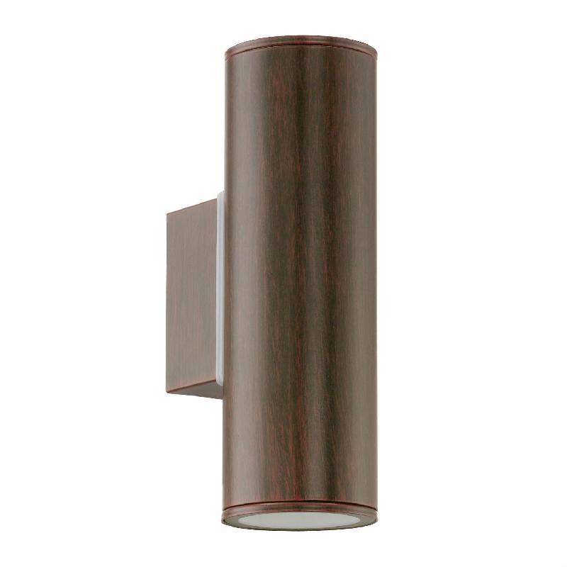 riga applique d 39 ext rieur 2 lumi res brun patin h20cm luminaire d 39 ext rieur eglo design. Black Bedroom Furniture Sets. Home Design Ideas