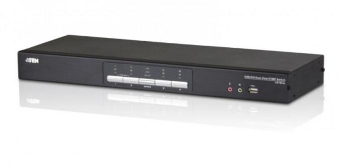 CS1644A - SWITCH KVM 4 PORTS USB DVI DUAL VIEW KVMP