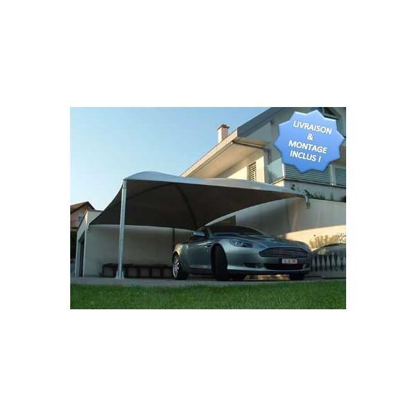 Abri voiture toile 4 poteaux 5m63 x 4m85 - Abri voiture toile ...