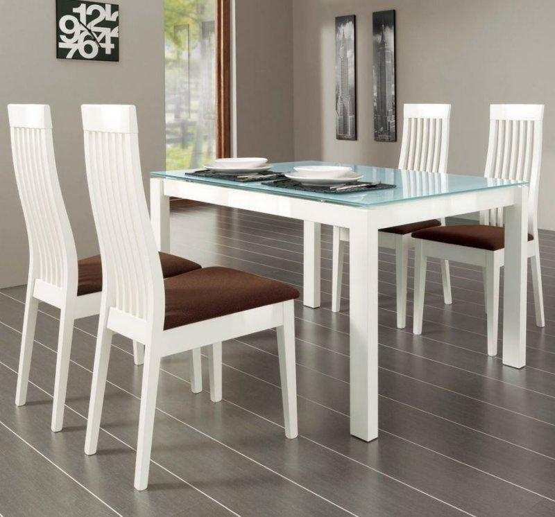 calligaris table repas extensible baron 130x85 en verre pietement metal laque blanc. Black Bedroom Furniture Sets. Home Design Ideas